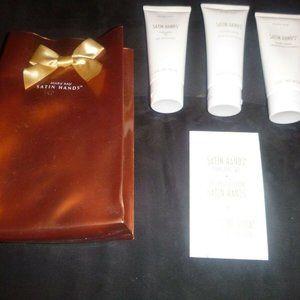 Satin Hands Pampering Set 3 oz Tubes with Gift Bag